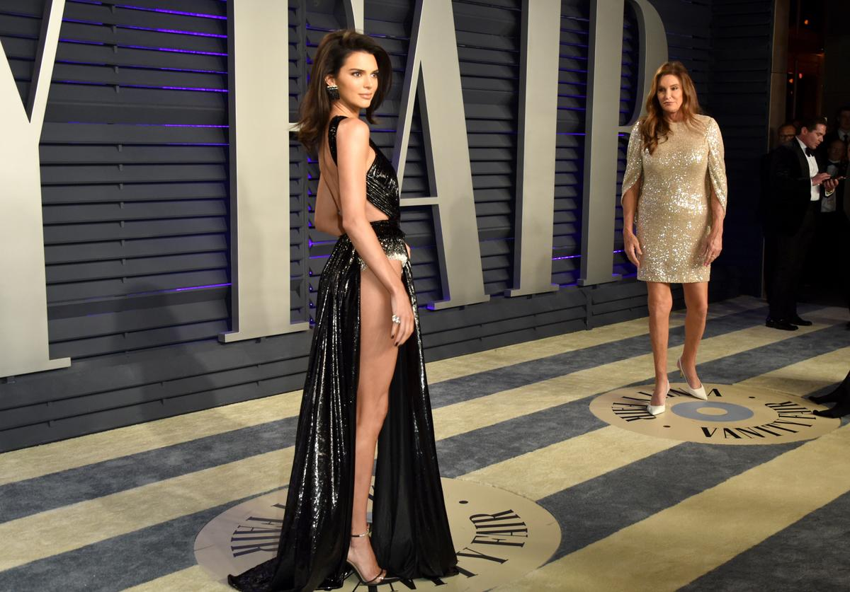 Kendall Jenner (L) and Caitlyn Jenner attend the 2019 Vanity Fair Oscar Party hosted by Radhika Jones at Wallis Annenberg Center for the Performing Arts on February 24, 2019 in Beverly Hills, California