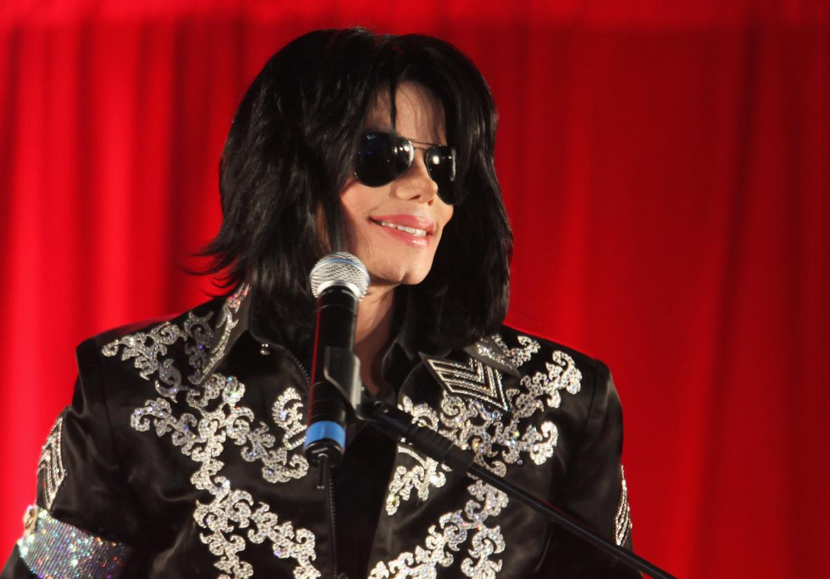 Michael Jackson announces plans for Summer residency at the O2 Arena at a press conference held at the O2 Arena on March 5, 2009 in London, England