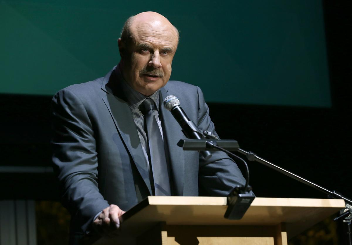 Dr. Phil McGraw speaks onstage at Zimmer Children's Museum Discovery Award Dinner at Skirball Cultural Center on November 15, 2016 in Los Angeles, California