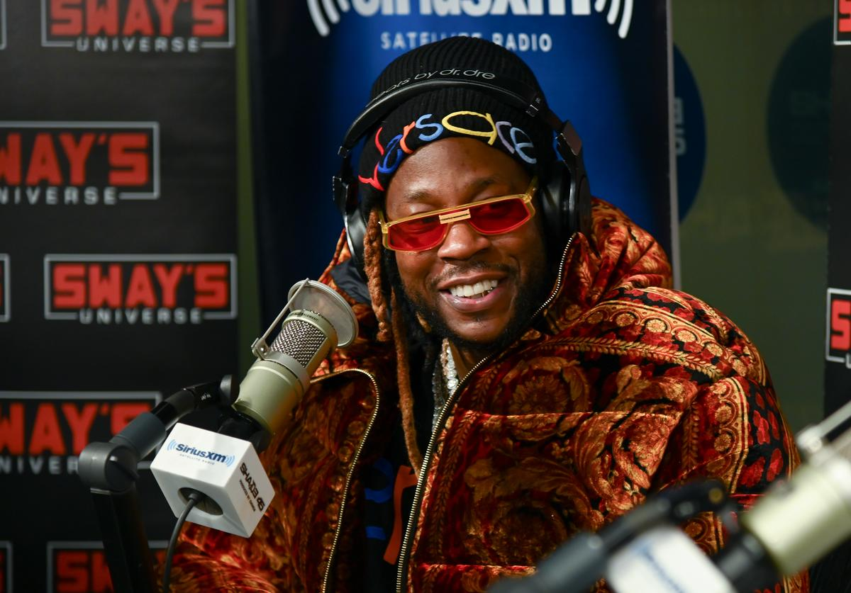 Rapper 2 Chainz visits 'Sway in the Morning' with Sway Calloway on Eminem's Shade 45 at SiriusXM Studios on February 27, 2019 in New York City.