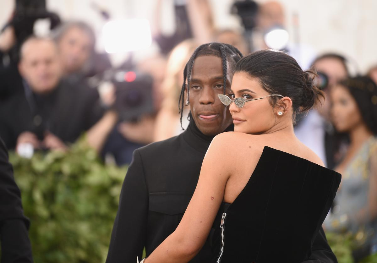 Travis Scott and Kylie Jenner attend the Heavenly Bodies: Fashion & The Catholic Imagination Costume Institute Gala at The Metropolitan Museum of Art on May 7, 2018 in New York City
