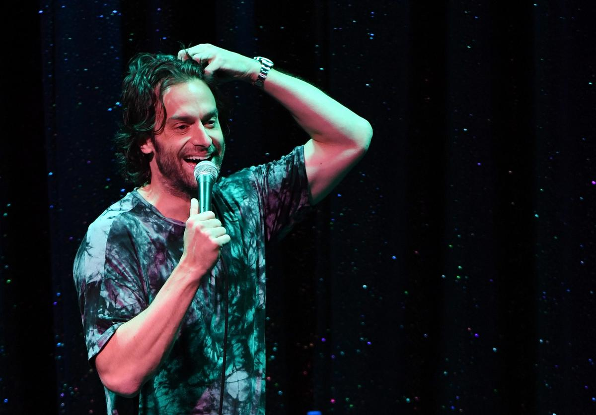 Chris D'Elia performs his stand-up comedy routine as part of the Aces of Comedy series at The Mirage Hotel & Casino on August 25, 2018 in Las Vegas, Nevada
