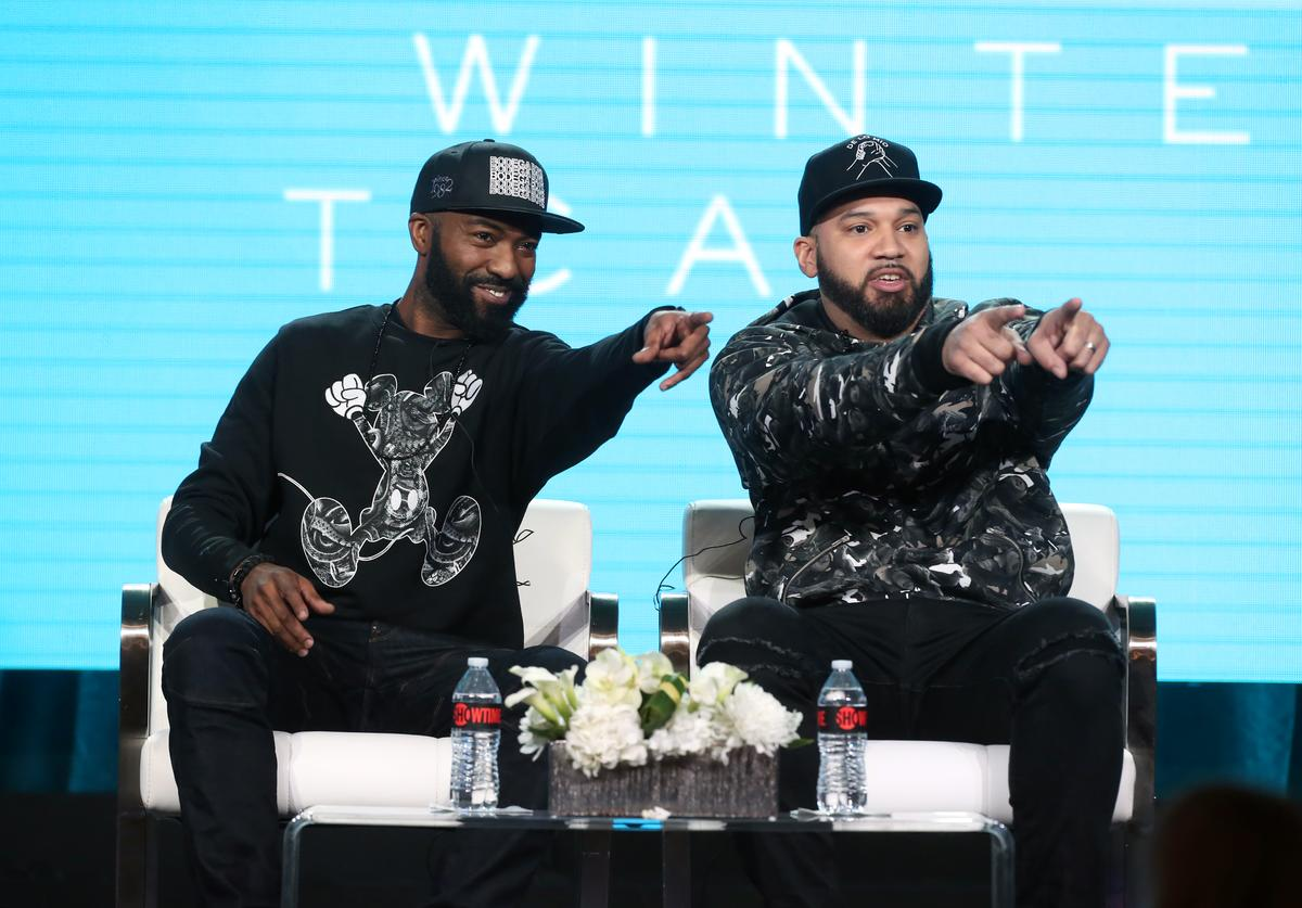 Desus Nice and The Kid Mero of the television show 'Desus & Mero' speak during the Showtime segment of the 2019 Winter Television Critics Association Press Tour at The Langham Huntington, Pasadena on January 31, 2019 in Pasadena, California.