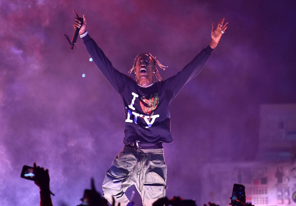 Travis Scott performs at Madison Square Garden on November 27, 2018 in New York City.