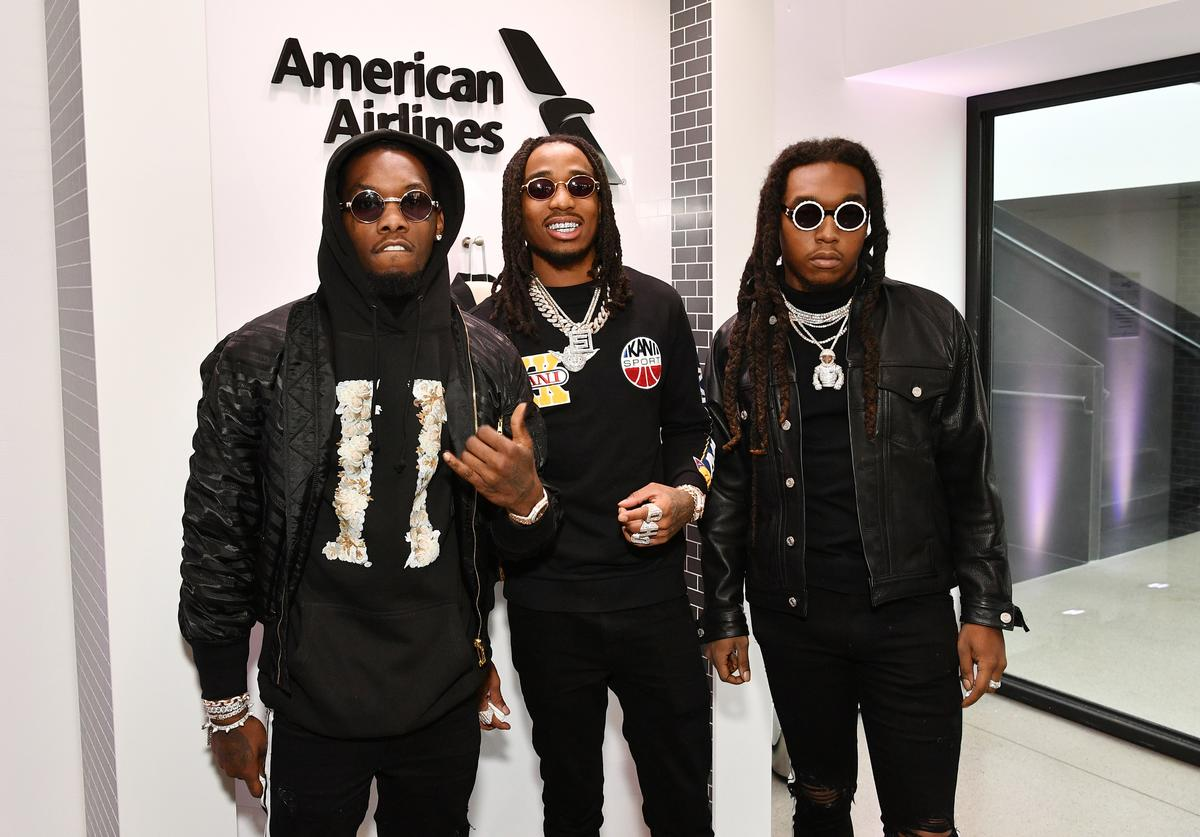 Offset, Takeoff, and Quavo from Migos attends Sir Lucian Grainge's 2018 Artist Showcase presented by Citi with support from Remy Martin on January 27, 2018 in New York City. (