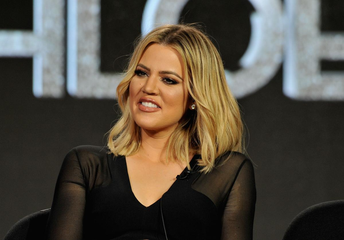 Khloe Kardashian, executive producer, speaks onstage during FYI - Kocktails with Khloe panel during the A+E Networks 2016 Television Critics Association Press Tour at The Langham Huntington Hotel and Spa on January 6, 2016 in Pasadena, California.