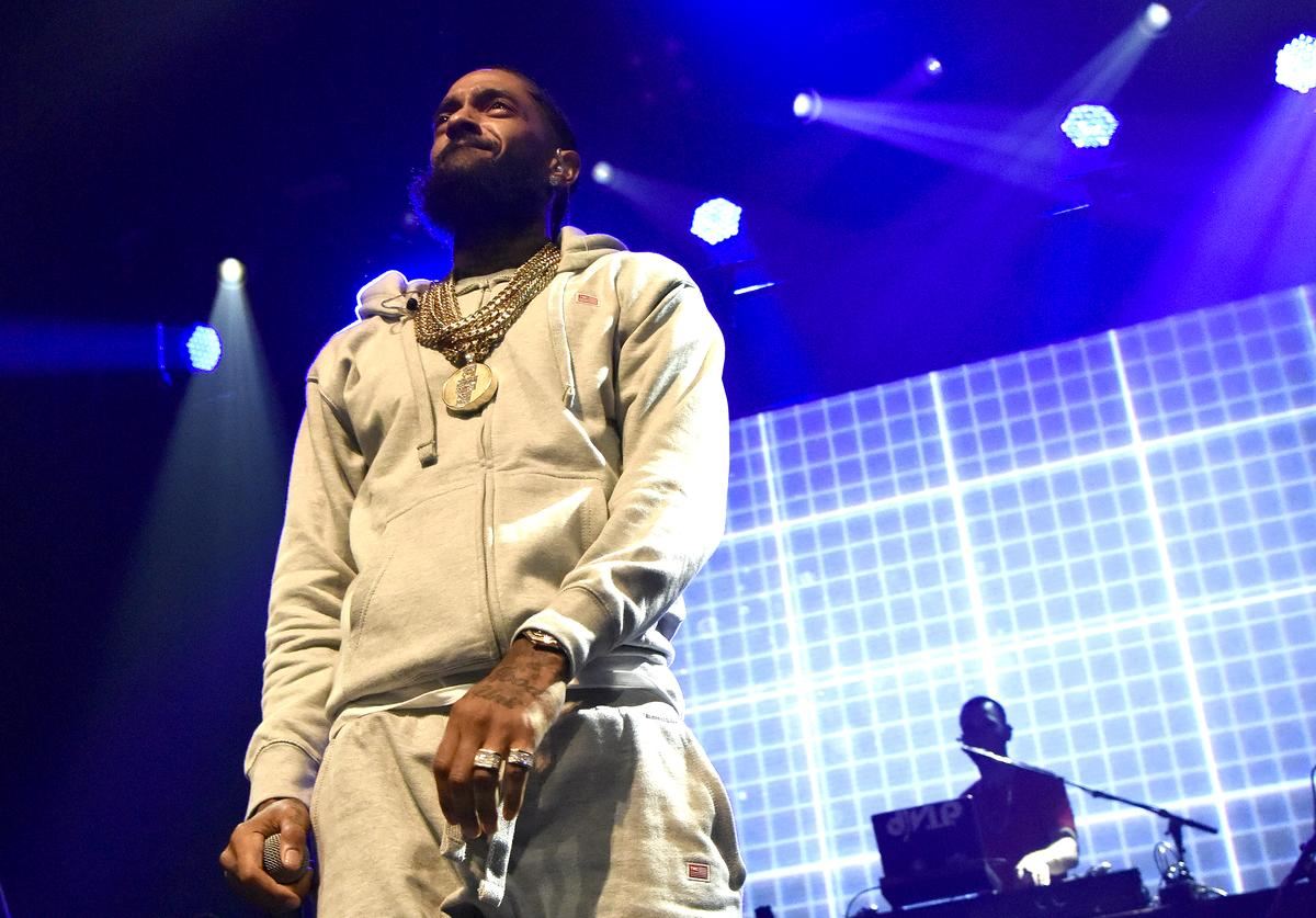 Nipsey Hussle performs during his 'Victory Lap Tour' at The Warfield on June 27, 2018 in San Francisco, California