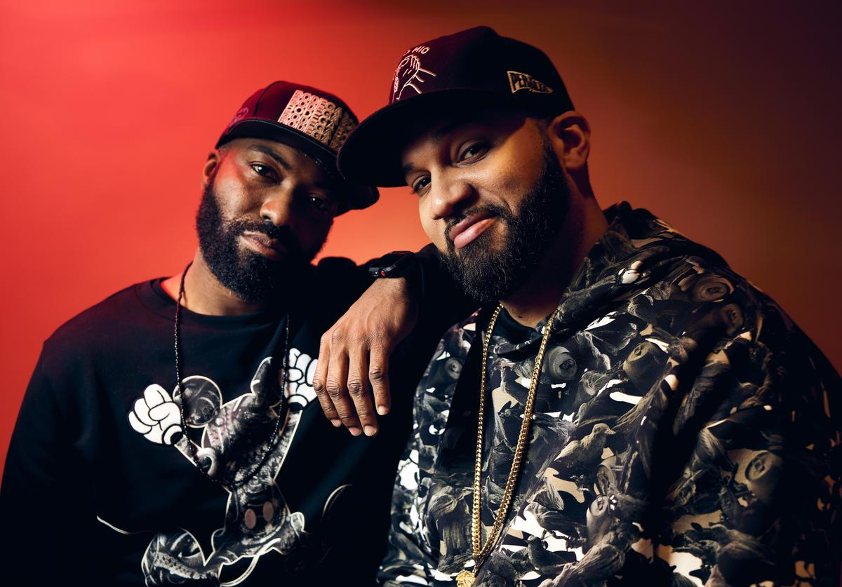 Desus Nice and The Kid Mero of Showtime's 'Desus & Mero' pose for a portrait during the 2019 Winter TCA Getty Images Portrait Studio at The Langham Huntington, Pasadena on January 31, 2019 in Pasadena, California