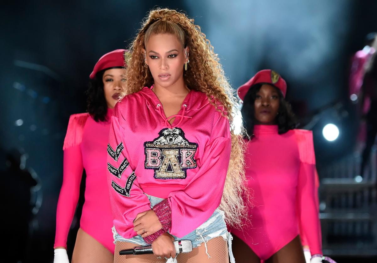 Beyonce Knowles performs onstage during the 2018 Coachella Valley Music And Arts Festival at the Empire Polo Field on April 21, 2018 in Indio, California