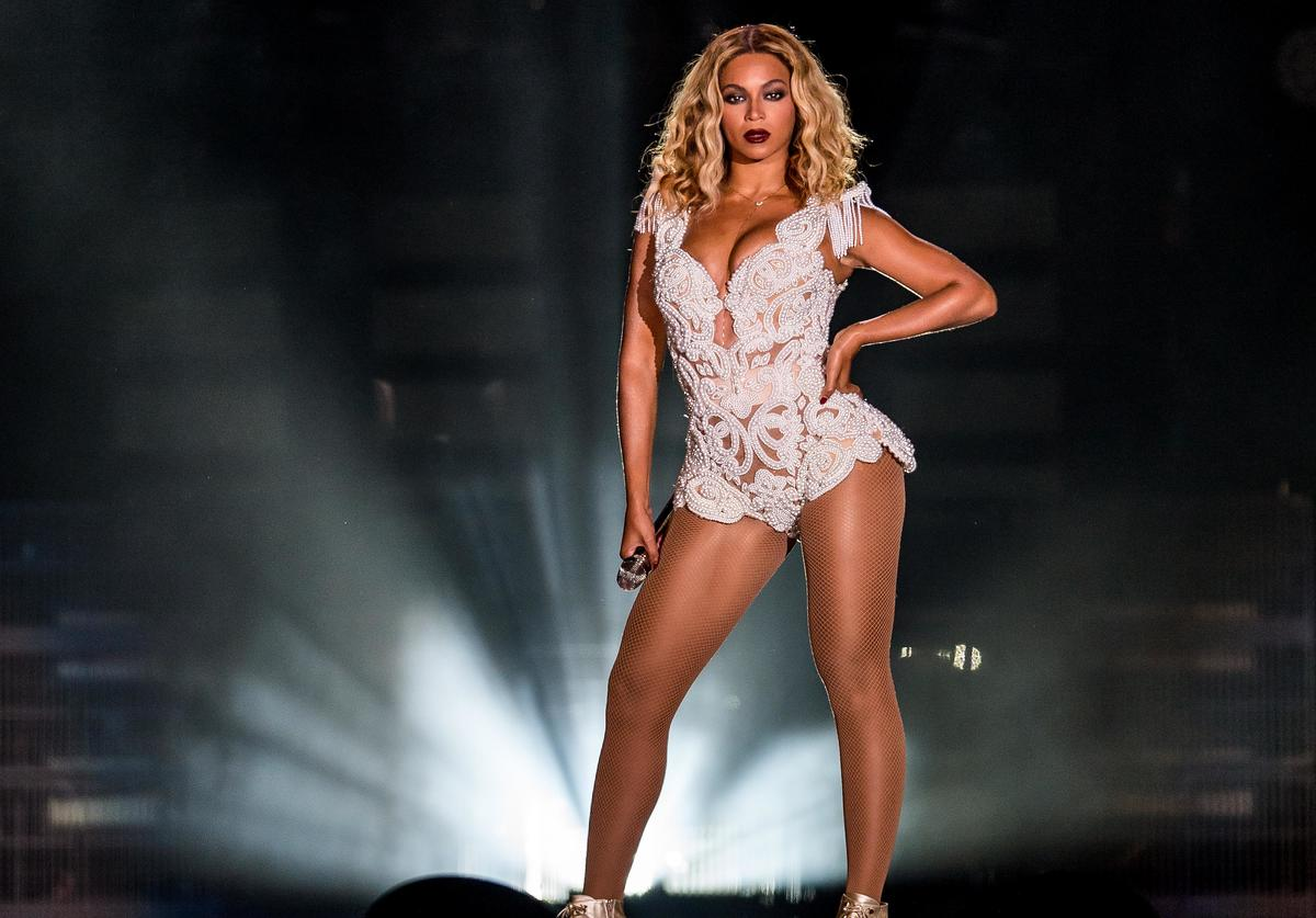 Singer Beyonce performs on stage during a concert in the Rock in Rio Festival on September 13, 2013 in Rio de Janeiro, Brazil.