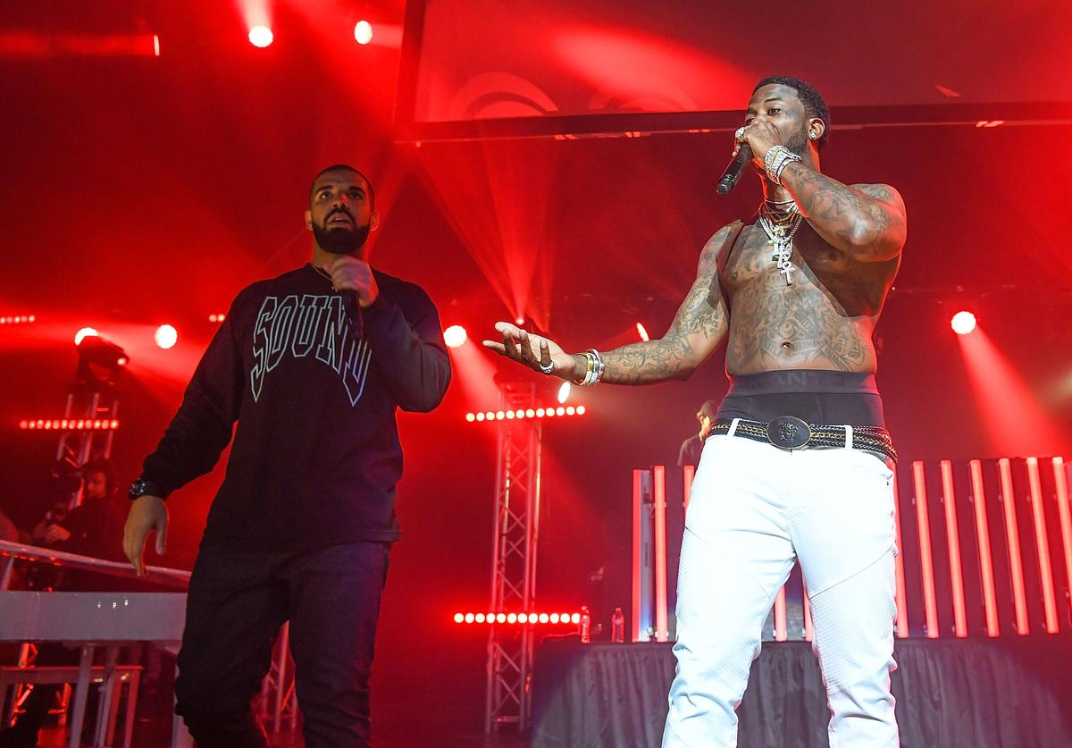 """Gucci Mane and Drake at Gucci Mane's """"homecoming"""" concert in ATL"""