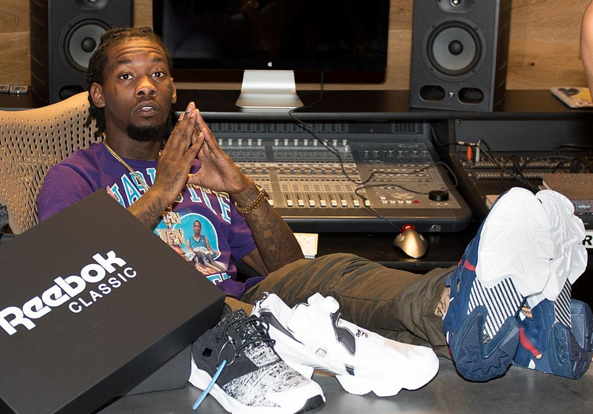 Rapper Offset attends the Reebok Classic celebrity gifting lounge at Means Street Studios on August 25, 2016 in Atlanta, Georgia.