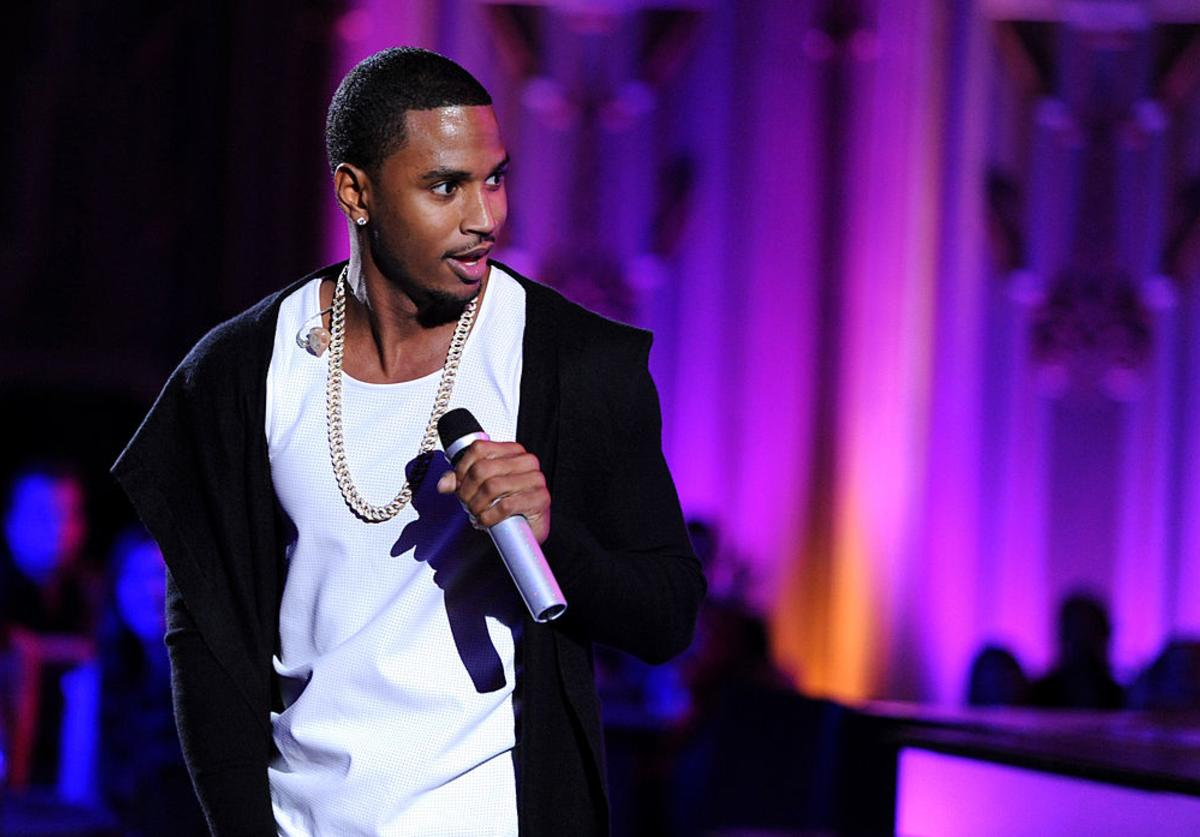 Trey Songz performs onstage at the 2014 Young Hollywood Awards brought to you by Samsung Galaxy at The Wiltern on July 27, 2014 in Los Angeles, California.