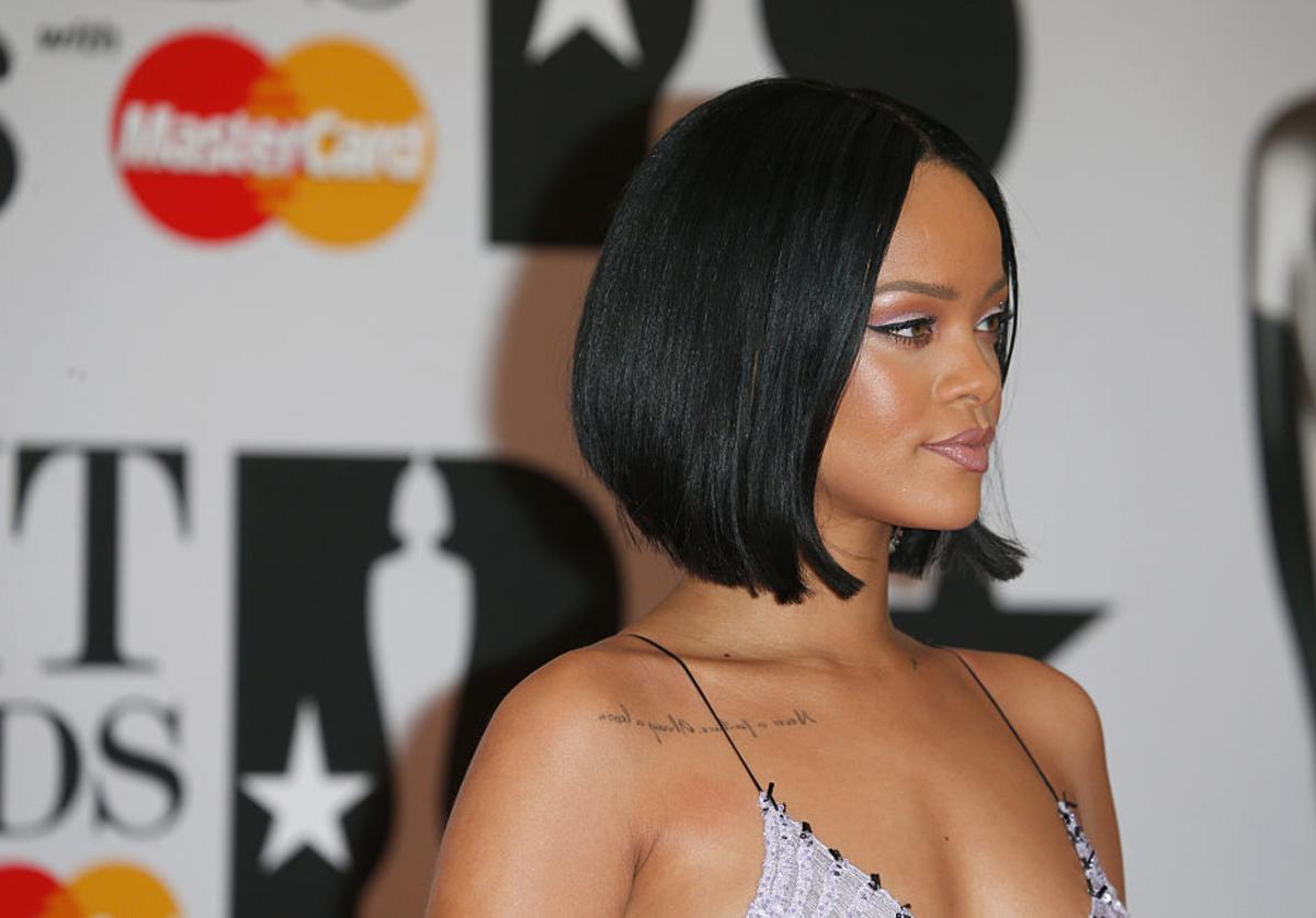 Rihanna attends the BRIT Awards 2016 at The O2 Arena on February 24, 2016 in London, England.