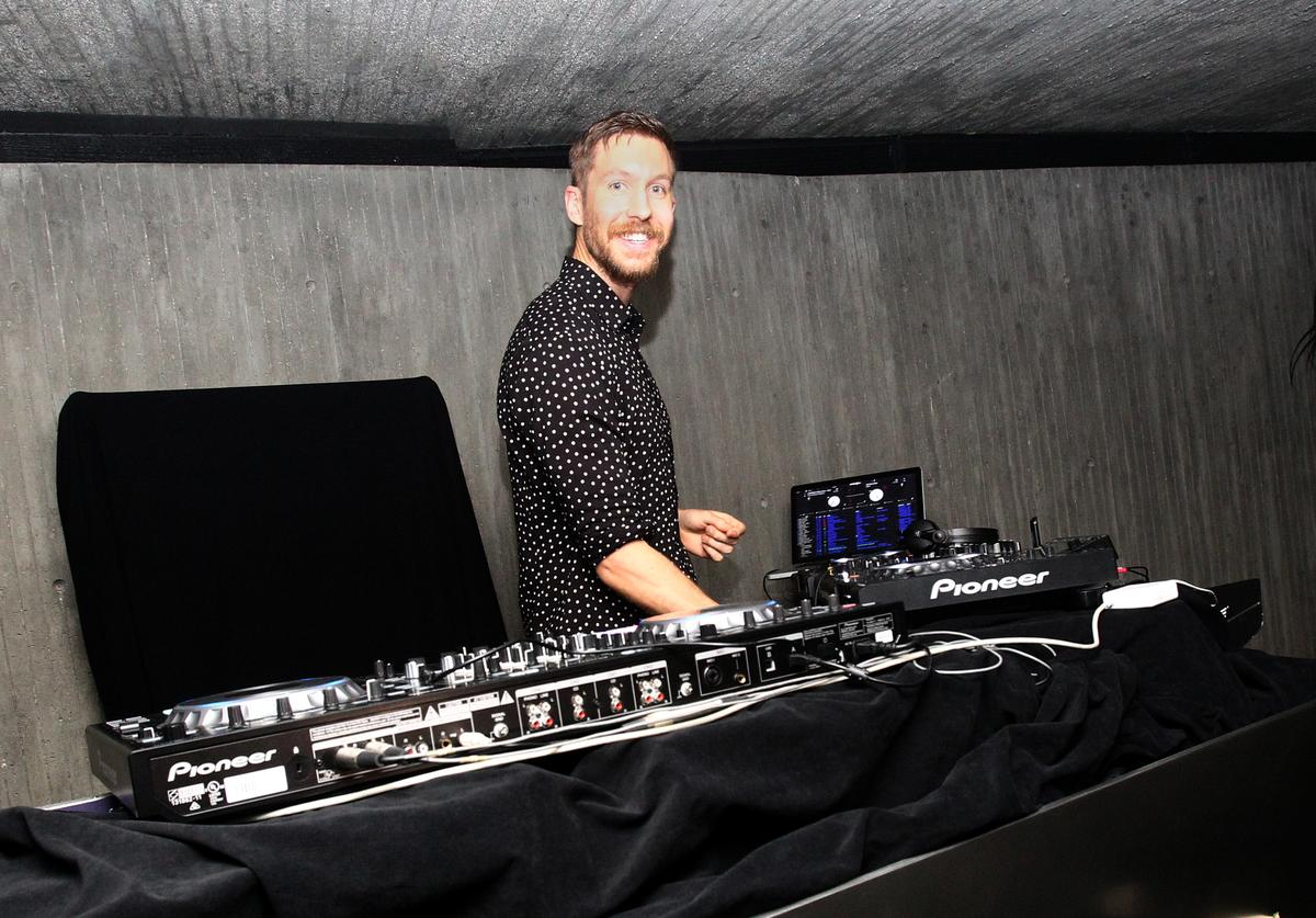 Calvin Harris performs at his album launch party at a private residence on June 29, 2017 in Los Angeles, California.