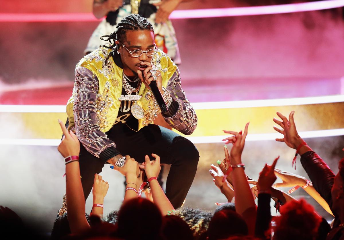 Quavo of Migos performs onstage at the 2018 BET Awards at Microsoft Theater on June 24, 2018 in Los Angeles, California