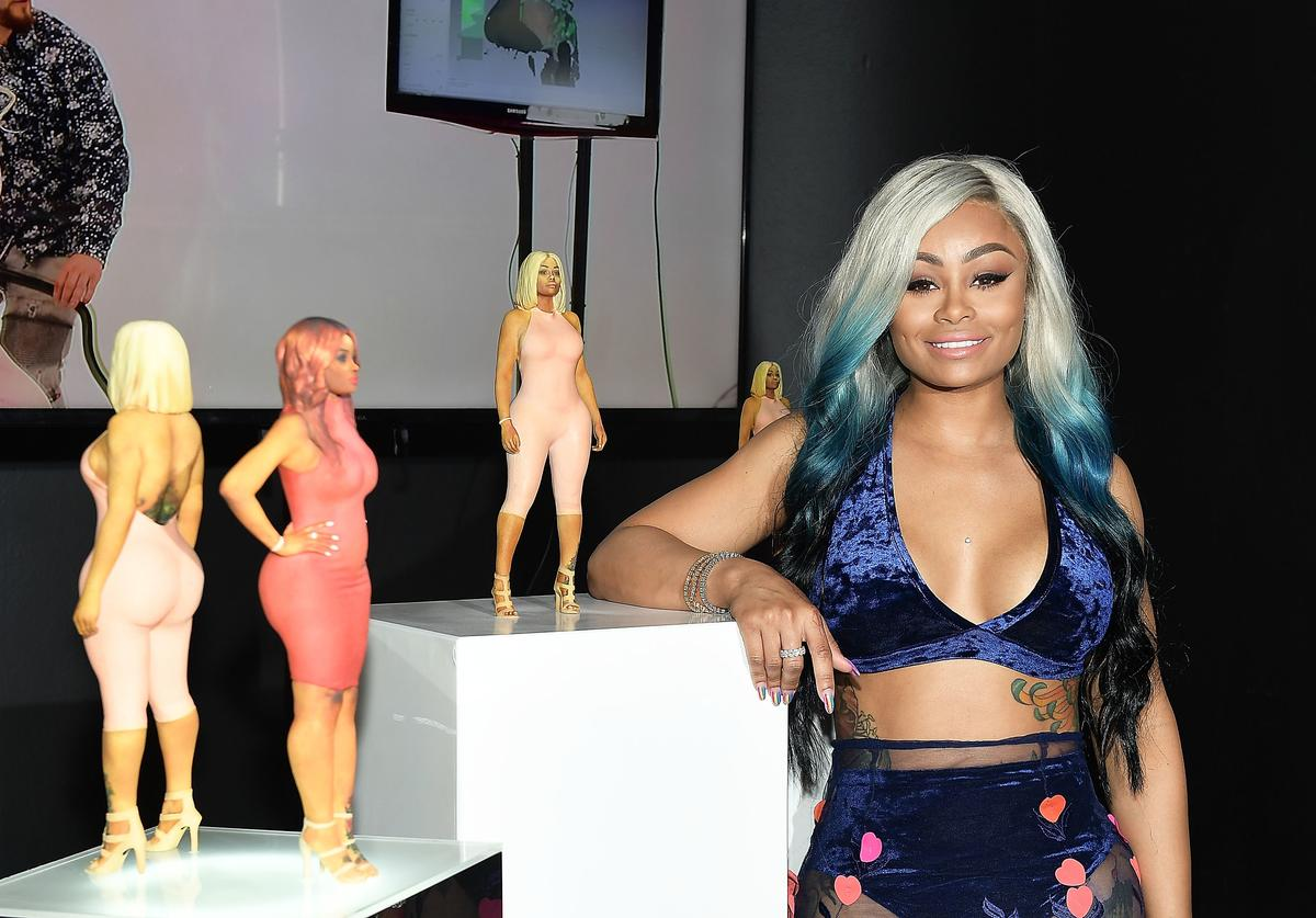 Blac Chyna attends her figurine dolls launch on August 17, 2017 in Los Angeles, California