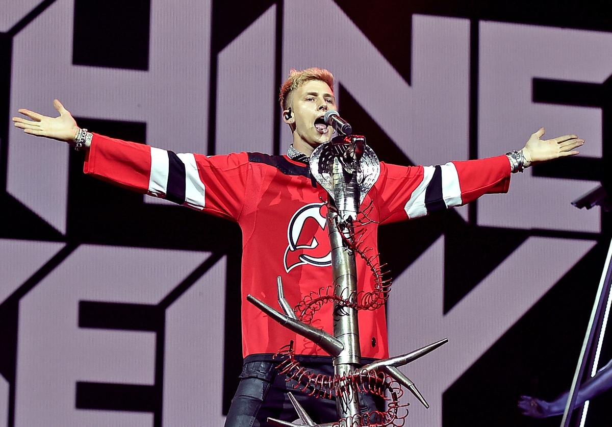 Machine Gun Kelly performs at Prudential Center on September 4, 2018 in Newark, New Jersey