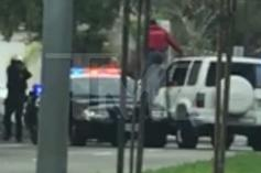 Car Chase Ends With Police Killing Man While On The Hood Of A Cop Car (VIDEO)