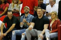 Justin Timberlake, JJ Watt Courtside Together For Rockets' Game 5 Win
