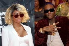 """Soulja Boy & Blac Chyna Make It """"DM Official"""" After Cuddling Up In The Club"""