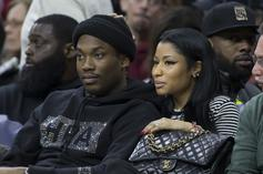 """Meek Mill Crops Nicki Minaj Out Of Pic & Refers To Her As """"Anonymous"""" In Twitter Story"""