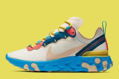 Nike React Element 55 Coming In Tan & Blue Colorway: Details