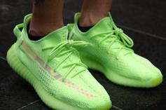 "Adidas Yeezy Boost 350 V2 ""Glow"" Coming Soon: On-Foot Photos"