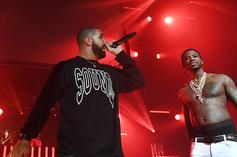 """Gucci Mane Re-iginites """"Rivalry"""" With Drake By Donning Giannis Jersey In Toronto"""