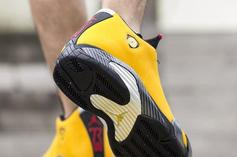 "Air Jordan 14 SE ""Reverse Ferrari"" Release Date, On-Foot Photos"
