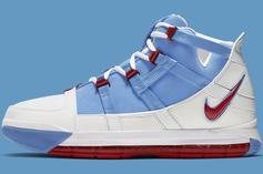 "Nike Zoom LeBron 3 QS ""Houston Oilers"" Drops This Week, Official Images"