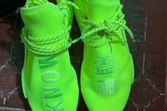 "Pharrell Williams X Adidas NMD Hu Revealed In ""Volt"" Colorway: First Look"