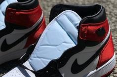 "Air Jordan 1 Satin ""Black Toe"" Rumored To Be Limited: In-Hand Photos"