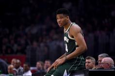 Giannis Antetokounmpo Reacts After Breaking Thunder Sign In Fit Of Rage