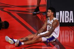 Kyle Kuzma Drunk And Shirtless During Post-Game Interview