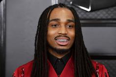 Quavo Delivers Light Euro Step During On-Court Battle