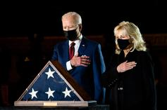 Biden Pays Respects To Brian Sicknick, Officer Killed During Capitol Riot