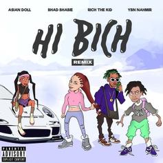 "Bhad Bhabie Grabs YBN Nahmir, Rich The Kid, & Asian Doll For ""Hi Bitch Remix"""