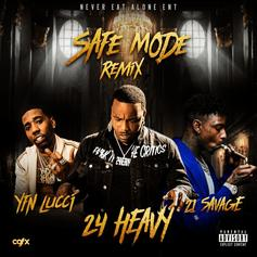 """YFN Lucci & 21 Savage Join 24 Heavy On New Remix To """"Safe Mode"""""""