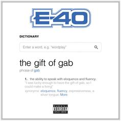 """Stream E-40's New Project """"The Gift Of Gab"""""""