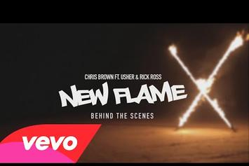 "Chris Brown ""New Flame"" Behind-The-Scenes Video"