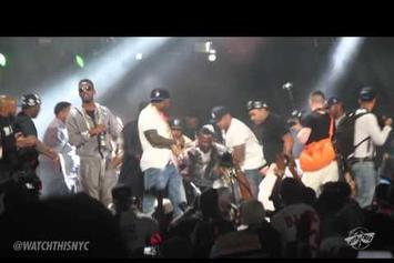 "Fabolous & 50 Cent Debut ""Cuffin' Season (Remix)"" Live At Summer Jam"