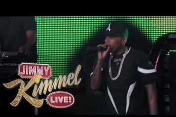 "Kid Ink & Travis Barker Perform ""Main Chick"" On Jimmy Kimmel"