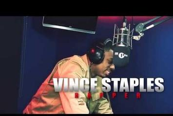 "Vince Staples ""Fire In The Booth"" Freestyle"