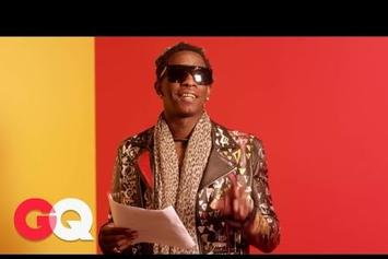"""Young Thug Reads His """"Best Friend"""" Lyrics"""