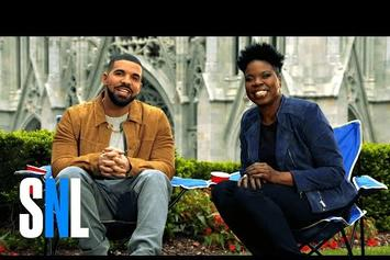 "Drake Gets Intimidated By Leslie Jones In ""Saturday Night Live"" Promo"