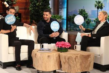"""Drake Talks SNL, Being Friends With Rihanna, & Plays """"Never Have I Ever"""" With Jared Leto On Ellen"""