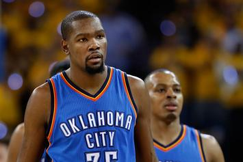 """Kevin Durant Gives Dion Waiters A Big """"F*ck You"""" For Not Passing The Ball"""