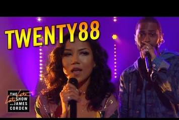 "Watch Big Sean & Jhene Aiko Perform ""On The Way"" As Twenty88 On The Late Late Show"