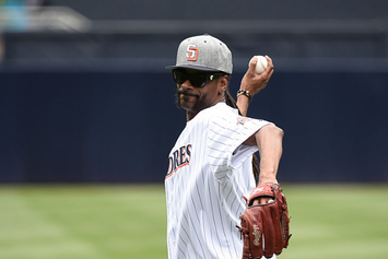 Snoop Dogg Throws Out The First Pitch, Nearly Hits An Innocent Bystander